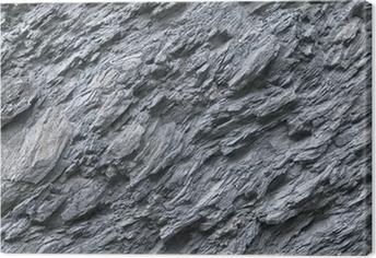 Schiefer, Naturstein, Gesteinsvorkommen, Felswand Canvas Print