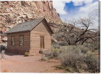 Schoolhouse at Fruita, Utah Canvas Print