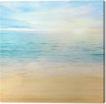 Sea and sand background Canvas Print