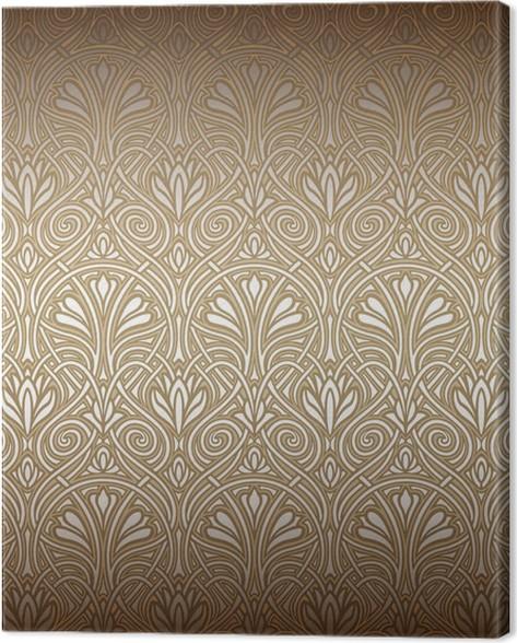 seamless art nouveau pattern canvas print pixers we live to change
