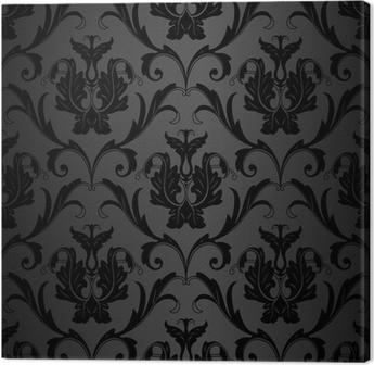 canvas prints seamless black wallpaper pattern