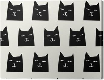 seamless cat pattern Canvas Print
