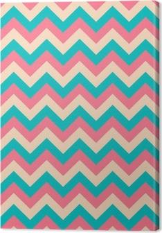 Seamless chevron pattern. Canvas Print