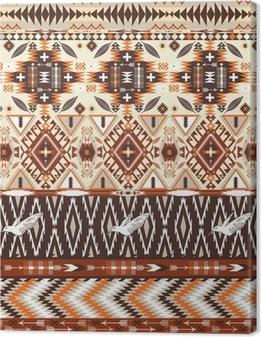 Seamless colorful aztec geometric tribal pattern Canvas Print