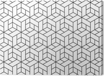 Seamless geometric pattern with cubes. Canvas Print
