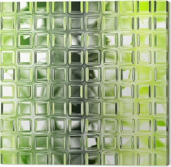 Seamless green glass tiles texture background, kitchen or bathro Canvas Print