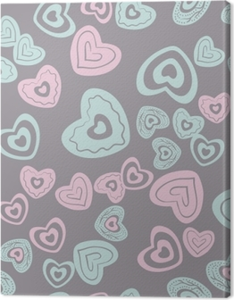 seamless heart pattern Canvas Print