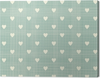 seamless hearts pattern Canvas Print