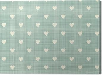 seamless hearts pattern Canvas Print