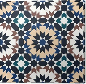seamless islamic geometric pattern Canvas Print