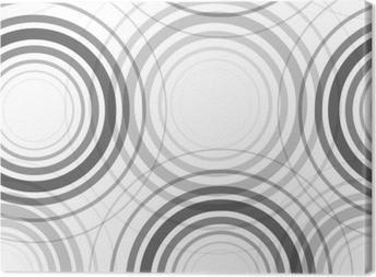 Seamless monochrome circles pattern Canvas Print