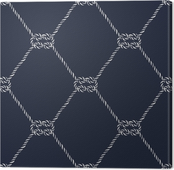 Seamless nautical rope pattern - Square knots Canvas Print