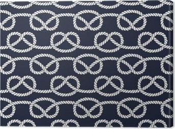 Seamless nautical rope pattern. Canvas Print
