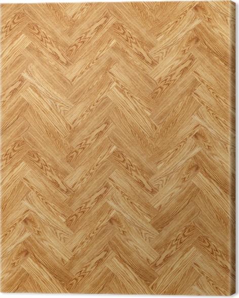 Seamless Oak Parquet Texture Canvas Print