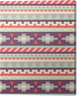Seamless pattern in native american style Canvas Print