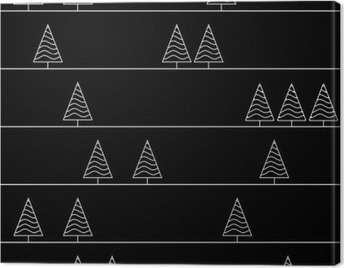 seamless pattern with fir trees isolated on background Canvas Print
