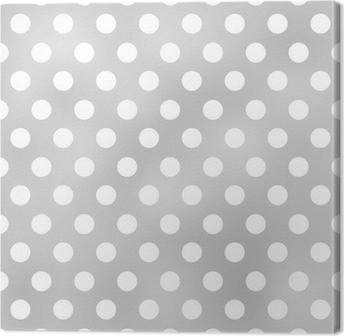 seamless polka dots grey pattern Canvas Print