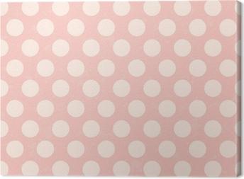 seamless polka dots grunge texture Canvas Print