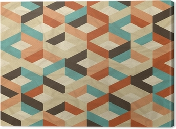 Seamless retro geometric pattern. Canvas Print