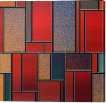Seamless textured stained glass panel Canvas Print