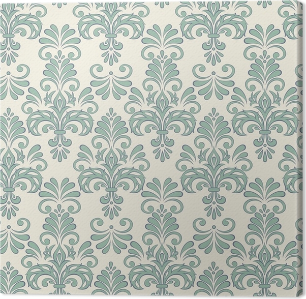 Seamless Vector Floral Wallpaper Baroque Style Pattern Canvas Print