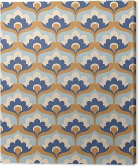 seamless vintage floral pattern Canvas Print