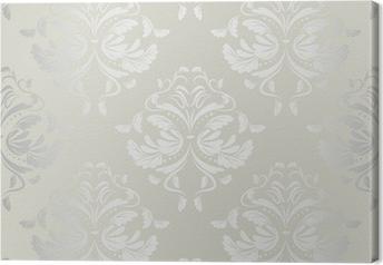 seamless wallpaper.damask pattern.floral background Canvas Print