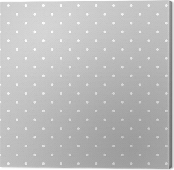 Seamless White And Grey Vector Pattern Or Tile Background With Polka Dots Canvas Print