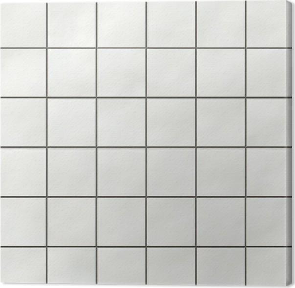 Seamless White Square Tiles Texture Canvas Print