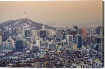 Seoul, South Korea Skyline Canvas Print