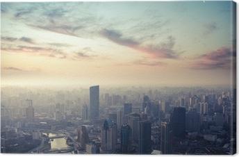 shanghai at dusk Canvas Print