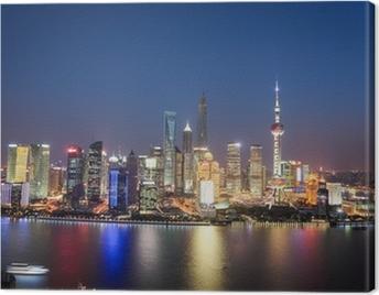 shanghai lujiazui night view Canvas Print