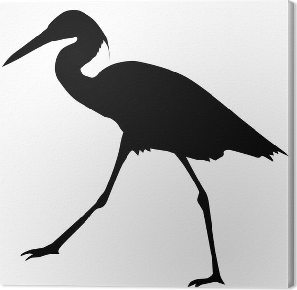 silhouette of heron canvas print pixers we live to change