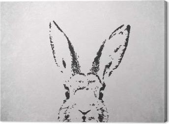 silhouette rabbit backround Canvas Print