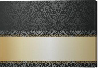 Silver luxury vintage wallpaper Canvas Print