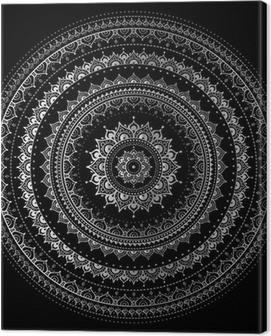 Silver mandala Canvas Print