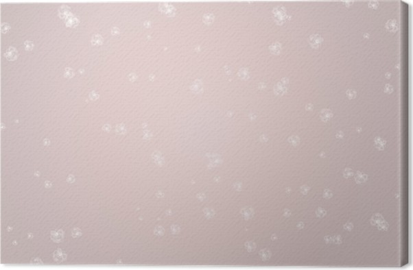 Simple Abstract Rose Quartz Colored Background With White Flowers Soft Spring Concept Of Colors Canvas Print