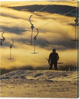 Ski resort Canvas Print