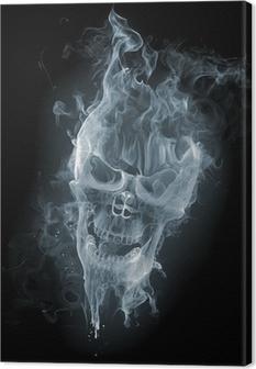 Skull - smoke Canvas Print
