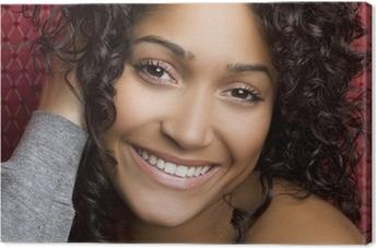 Smiling Black Girl Canvas Print