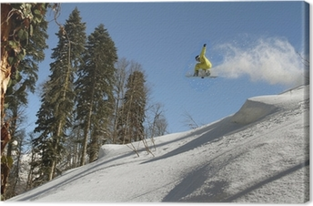 Snowboard freerider Canvas Print