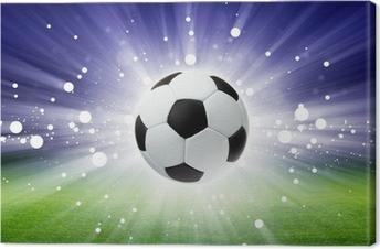 Soccer ball, stadium, light Canvas Print