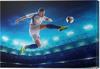 Soccer player in action Canvas Print