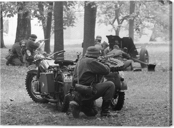 Soldiers of Wehrmacht Canvas Print