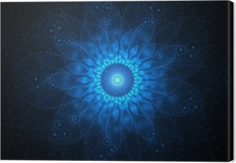 Space mandala Canvas Print