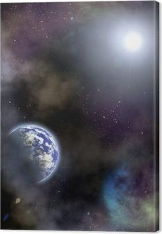 space scenario Canvas Print