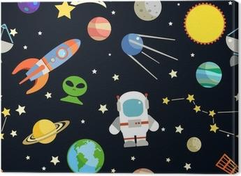 Space seamless pattern Canvas Print