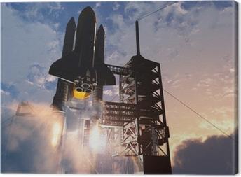 Space transport Canvas Print