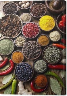 Spice Still Life, wooden bowl Canvas Print
