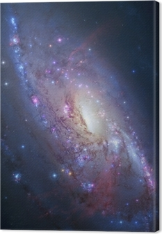Spiral galaxy in deep space. Elements of image furnished by NASA Canvas Print